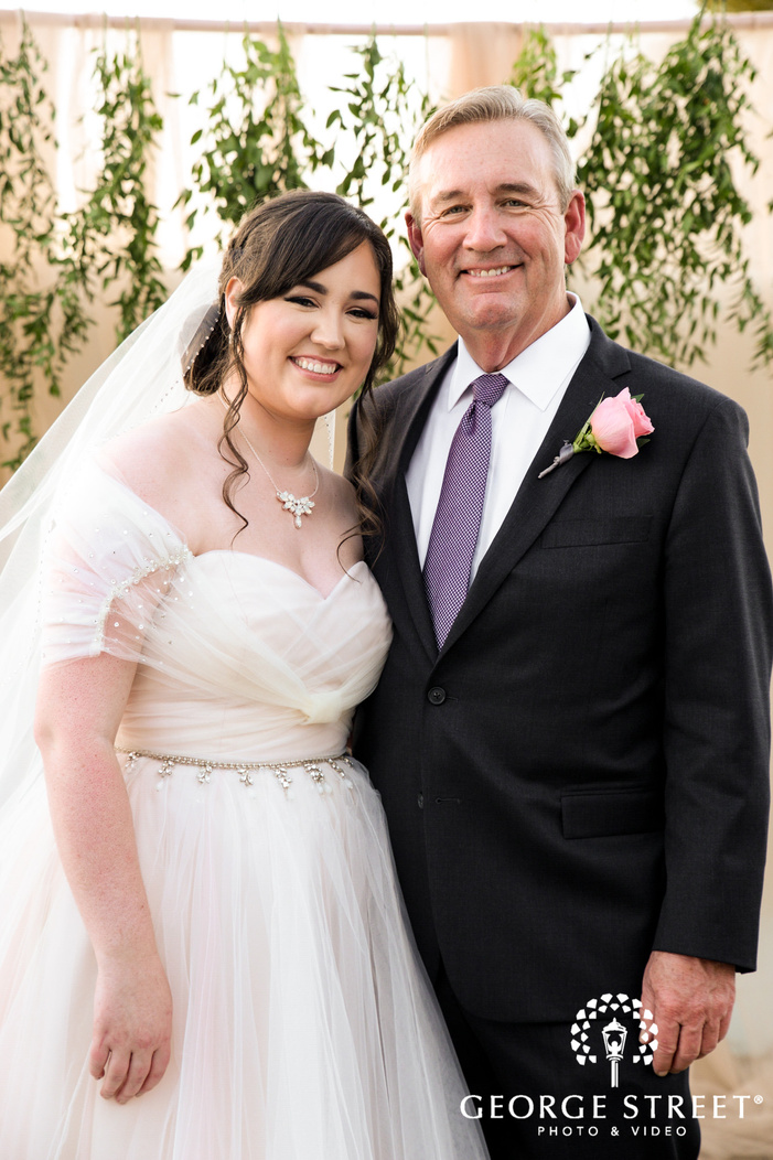 beautiful bride and father wedding photography
