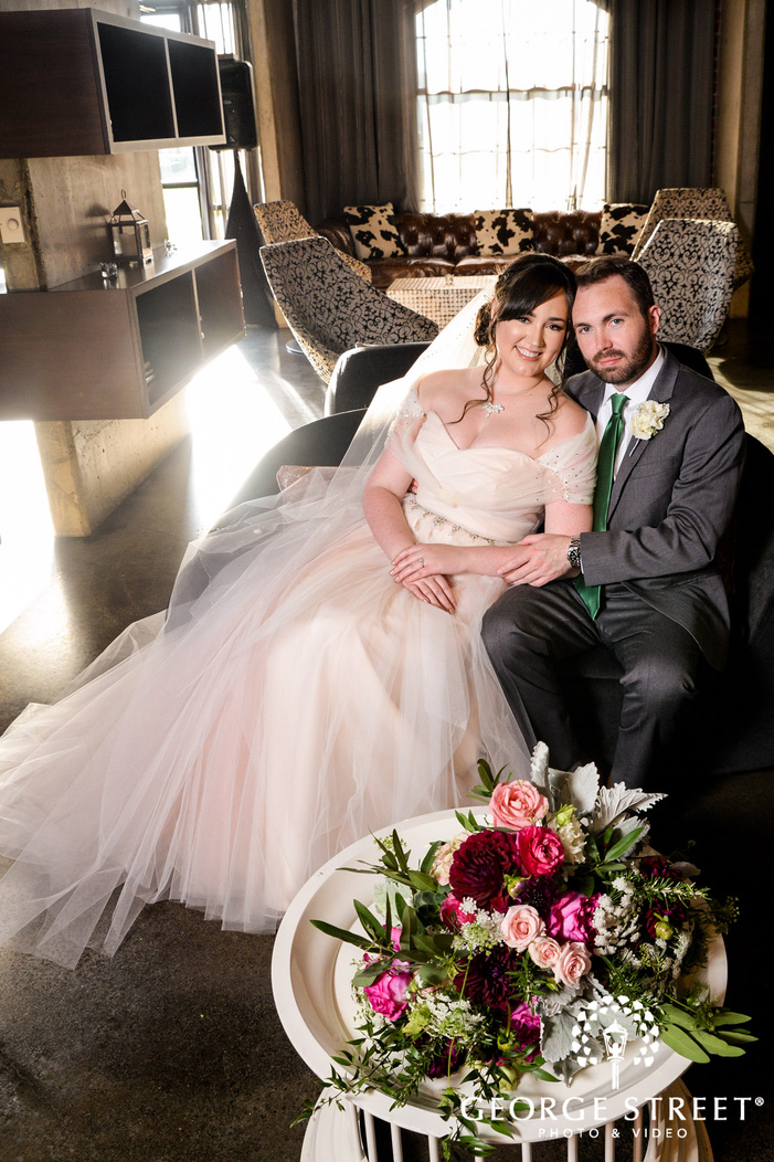 beautiful bride and groom at the nylo hotel in dallas