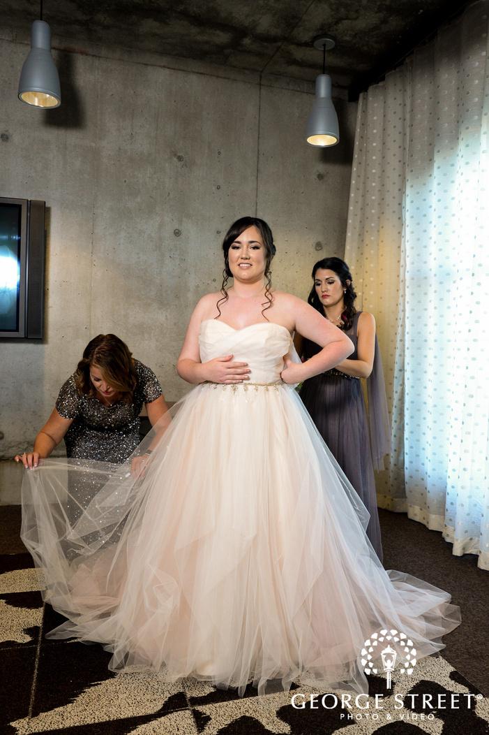 beautiful bride getting ready wedding photo