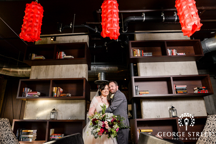 blissful bride and groom at the nylo hotel in dallas