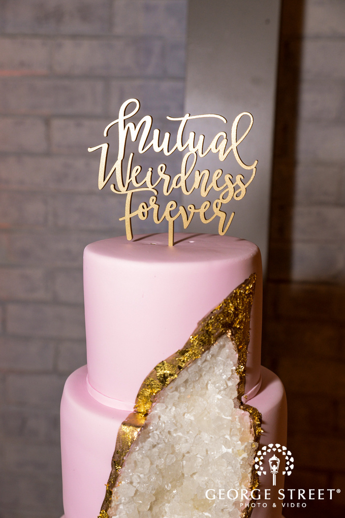 elegant cake topper wedding photo