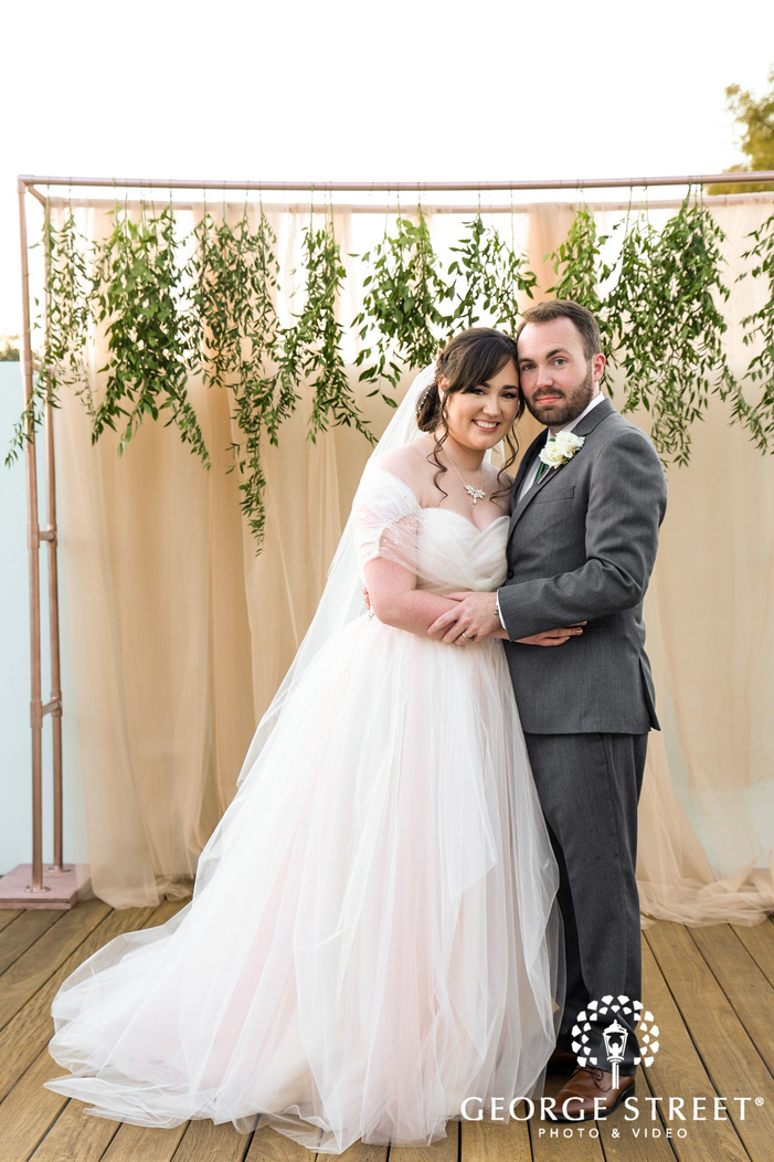 lovely bride and groom at the nylo hotel in dallas