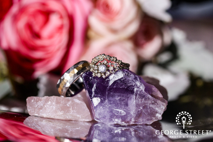 modish bride and groom rings