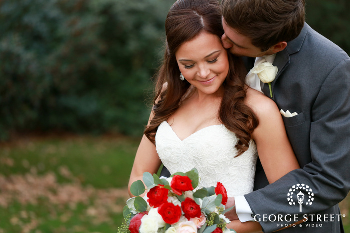 ashton Gardens Dallas outdoor wedding couple portraits