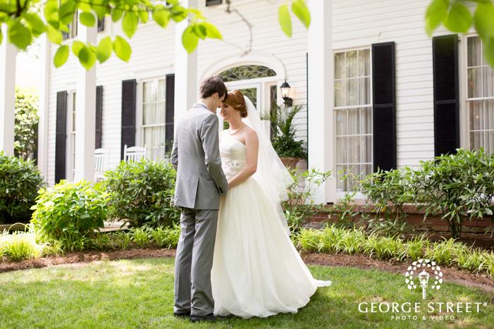 flint hill plantation atlanta outdoor wedding bride and groom portraits