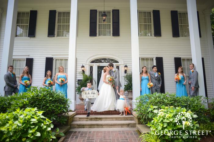 flint hill plantation atlanta outdoor wedding party portraits