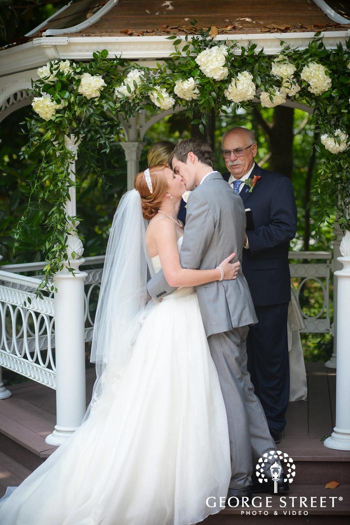 flint hill plantation atlanta wedding ceremony outdoor gazebo