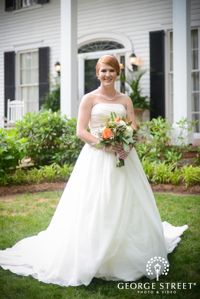 flint hill plantation atlanta wedding outdoor bridal portraits