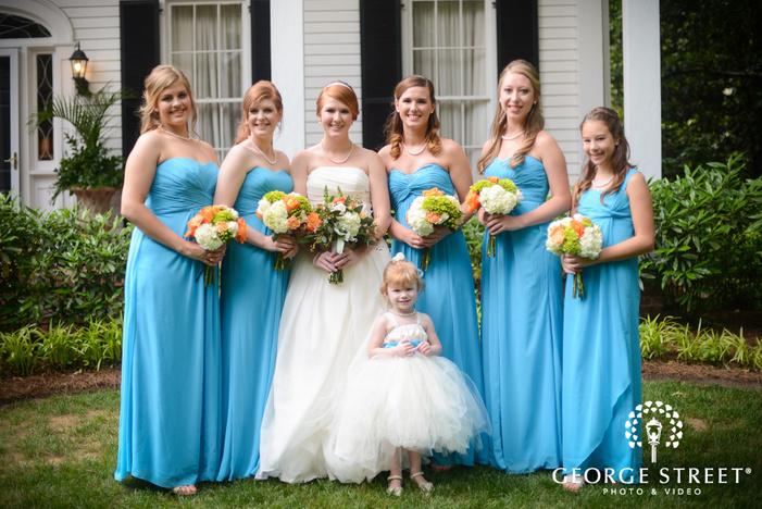 flint hill plantation atlanta wedding outdoor bridesmaid portraits