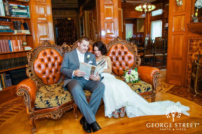 minneapolis van dusen mansion wedding portraits