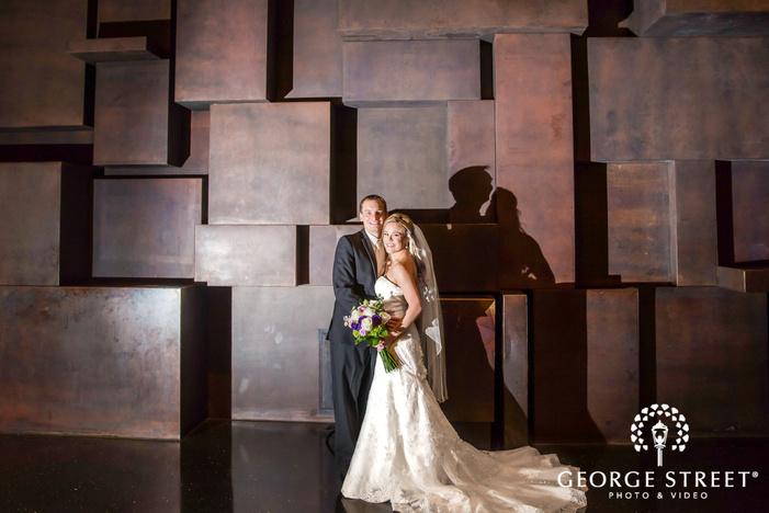 attractive bride and groom wedding photos