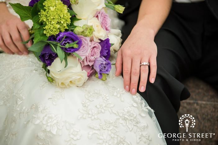 bride and groom wedding detail