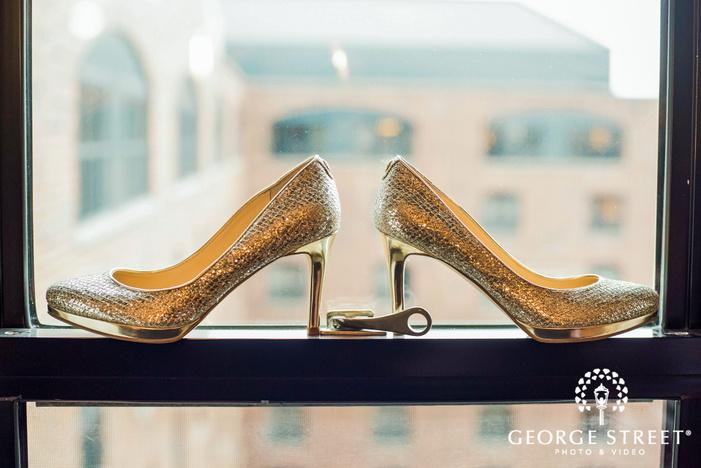classy bridal shoes wedding photo