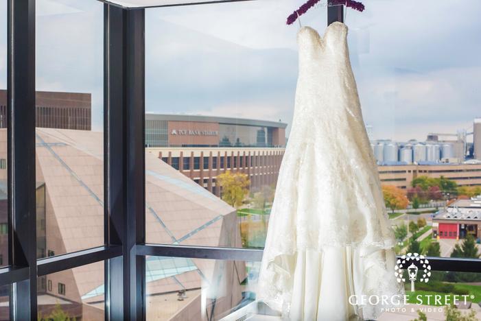 elegant white bridal dress wedding photo