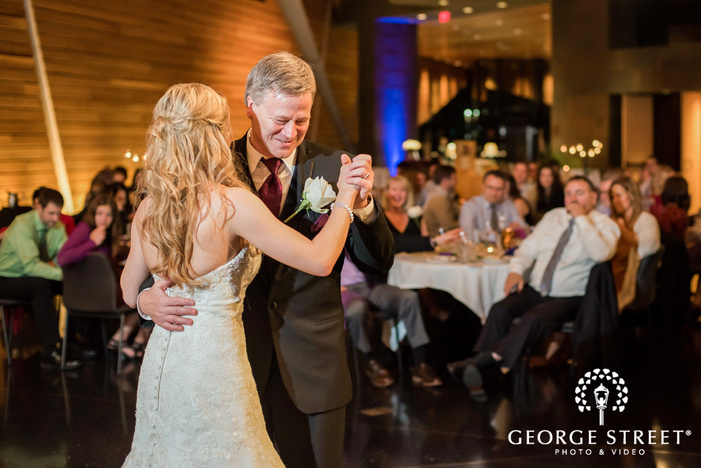 loving bride and father reception dance