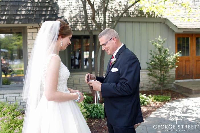 bride with parents minneapolis wedding portraits