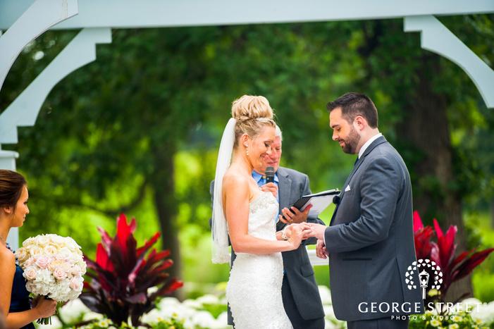 bride and groom candid wedding ceremony
