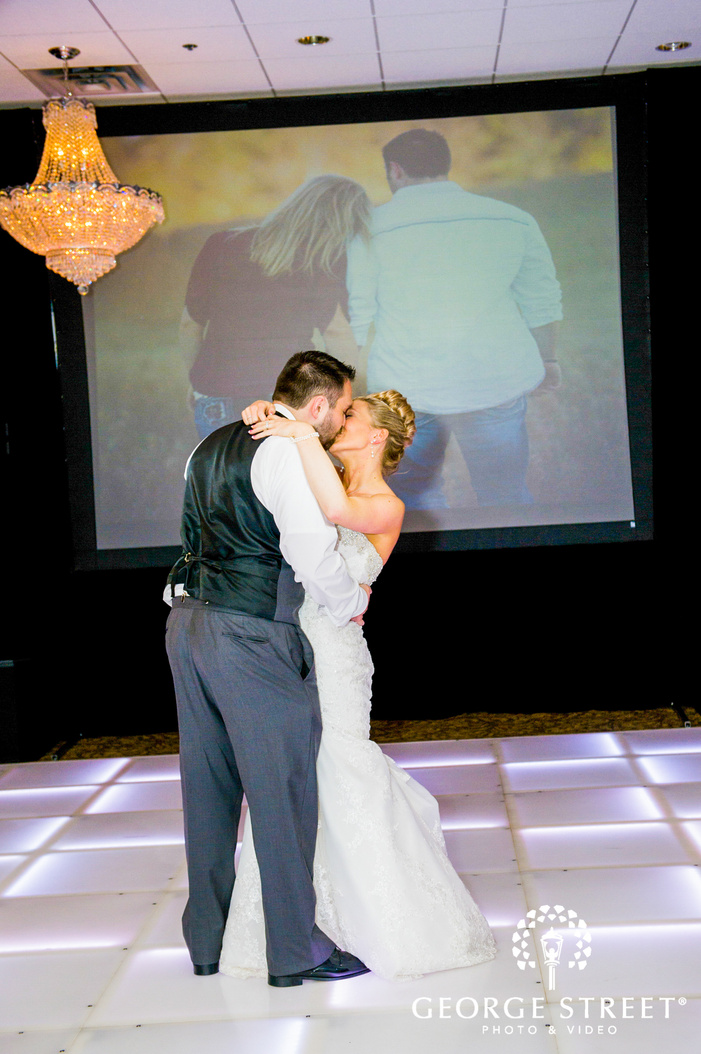 bride and groom reception first dance
