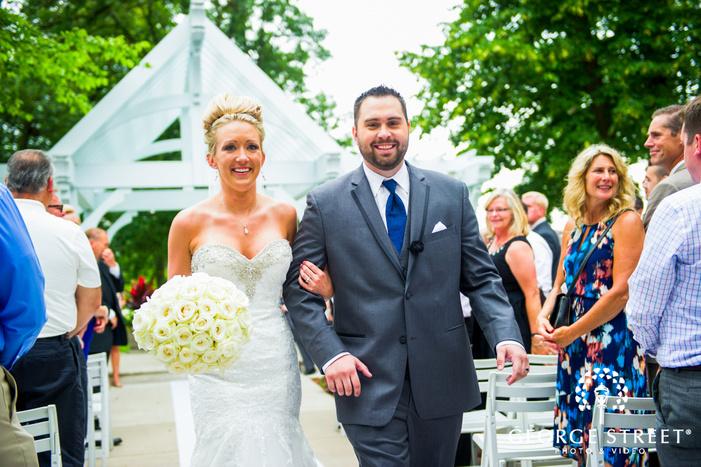 bride and groom wedding ceremony exit