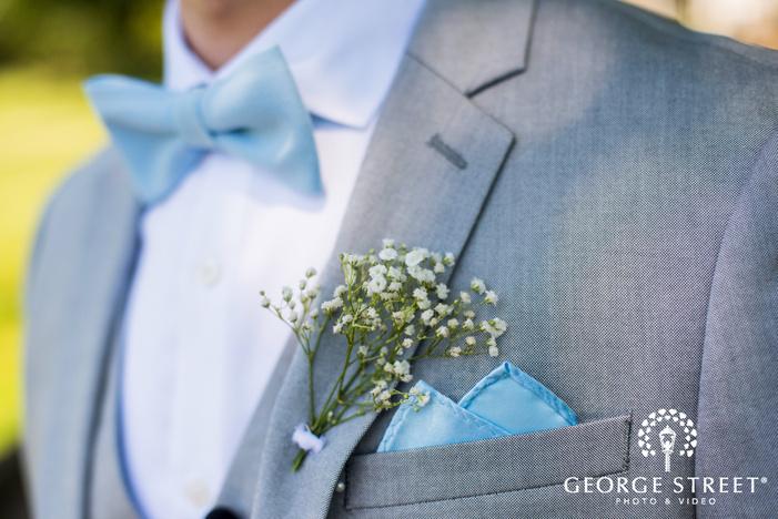 groom corsage detail