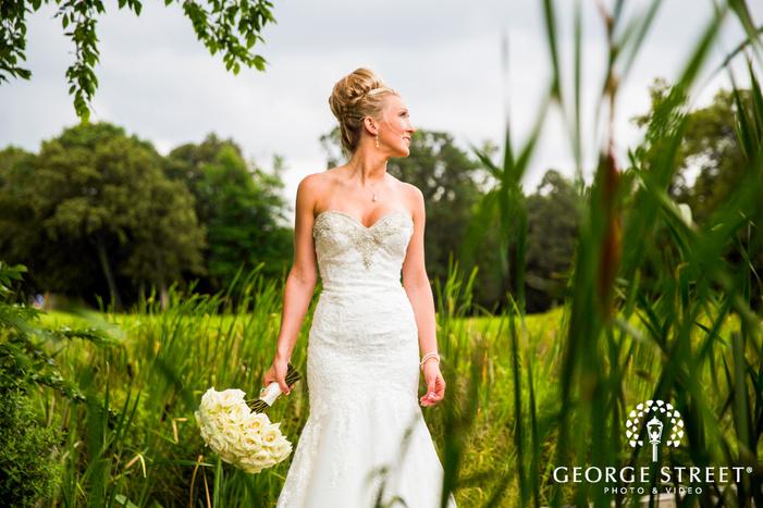 wedding bridal portrait outdoors