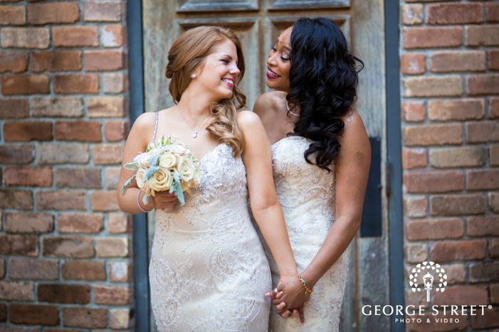 The Gallery  Houston wedding outdoor bride portraits lgbt