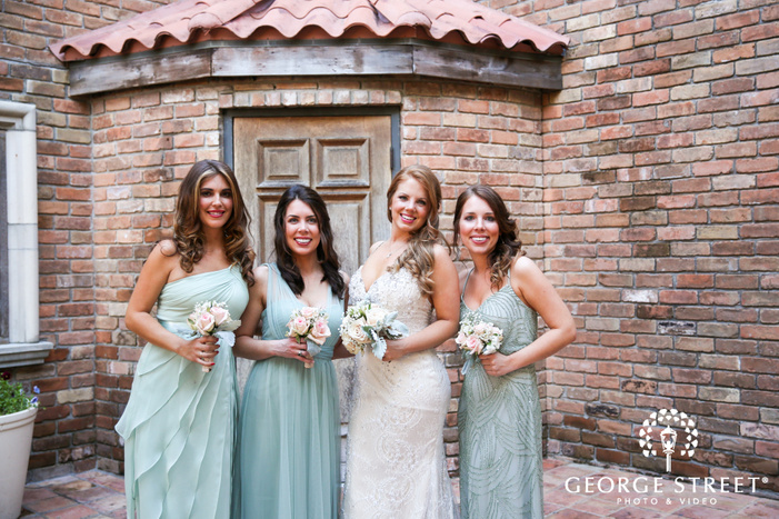 The Gallery  Houston wedding outdoor bridesmaid portraits