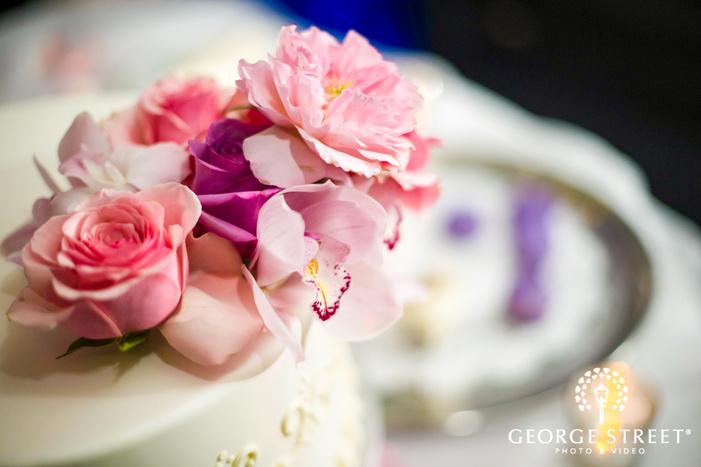 elegant wedding cake detail