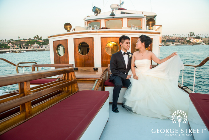 personable bride and groom at electra cruises in los angeles