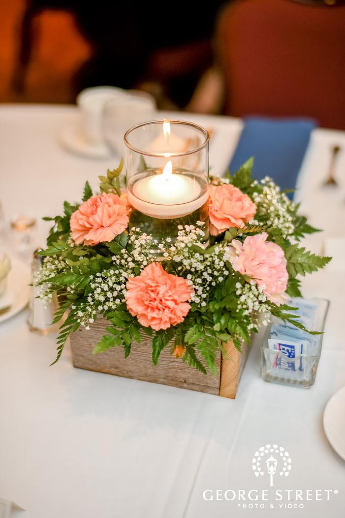 elegant reception table decor wedding photo