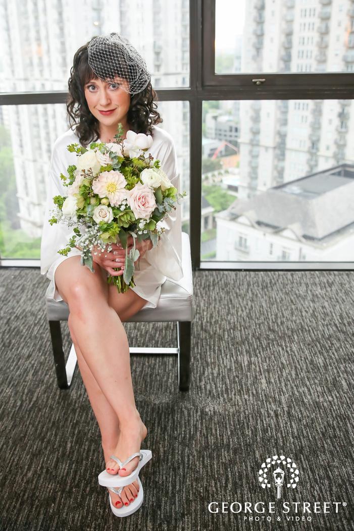 bride getting ready wedding portrait