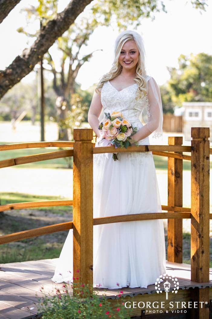 sunny bridal portrait