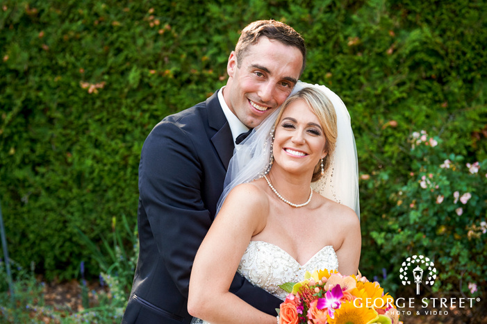 bride and groom wedding photos at Normandy Farm