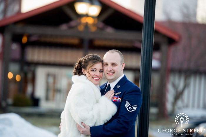 philadelphia outdoor wedding portraits winter