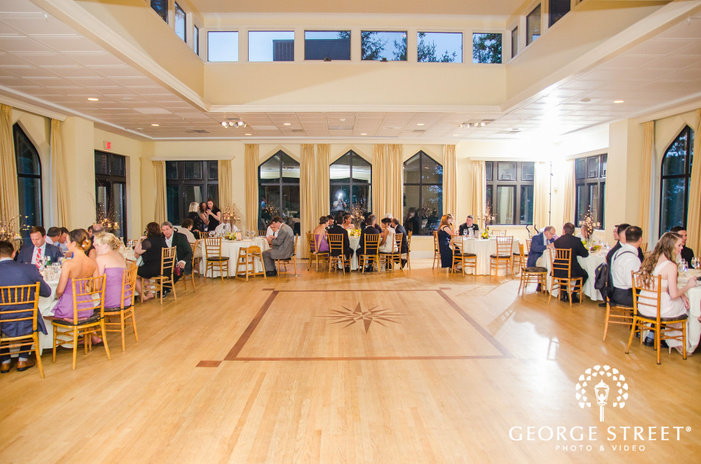 gold wedding reception at aldie mansion