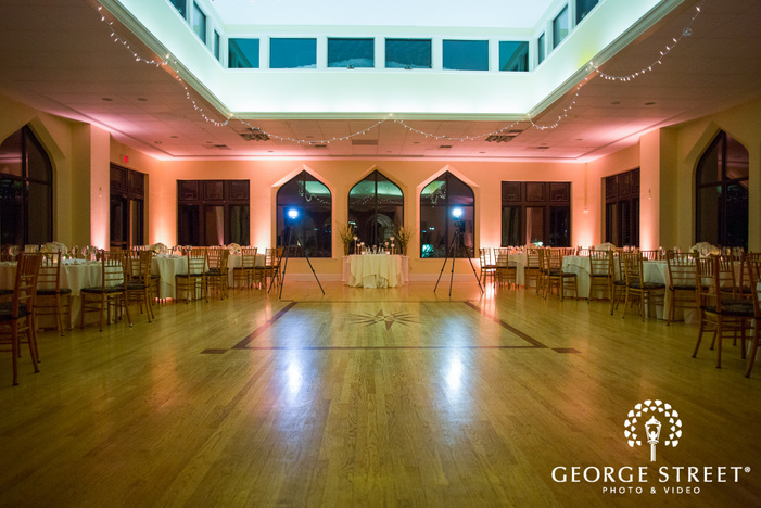 wedding reception at aldie mansion at night