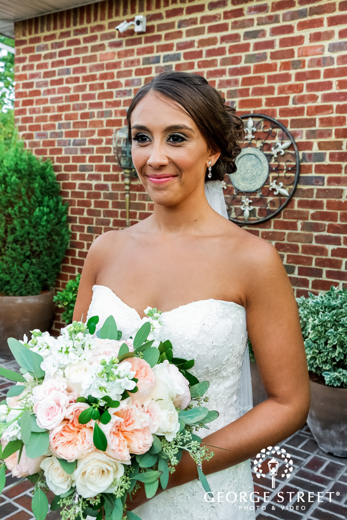 beautiful bride at coral house in new york wedding photos