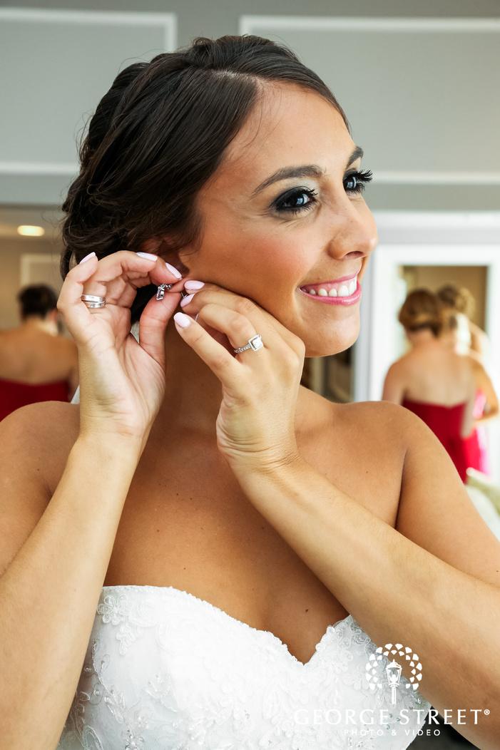 blissful bride getting ready wedding photos