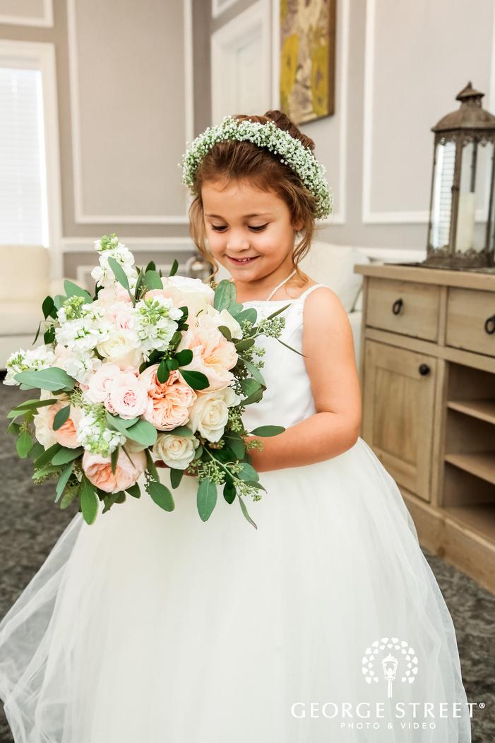 cute flower girl wedding photo