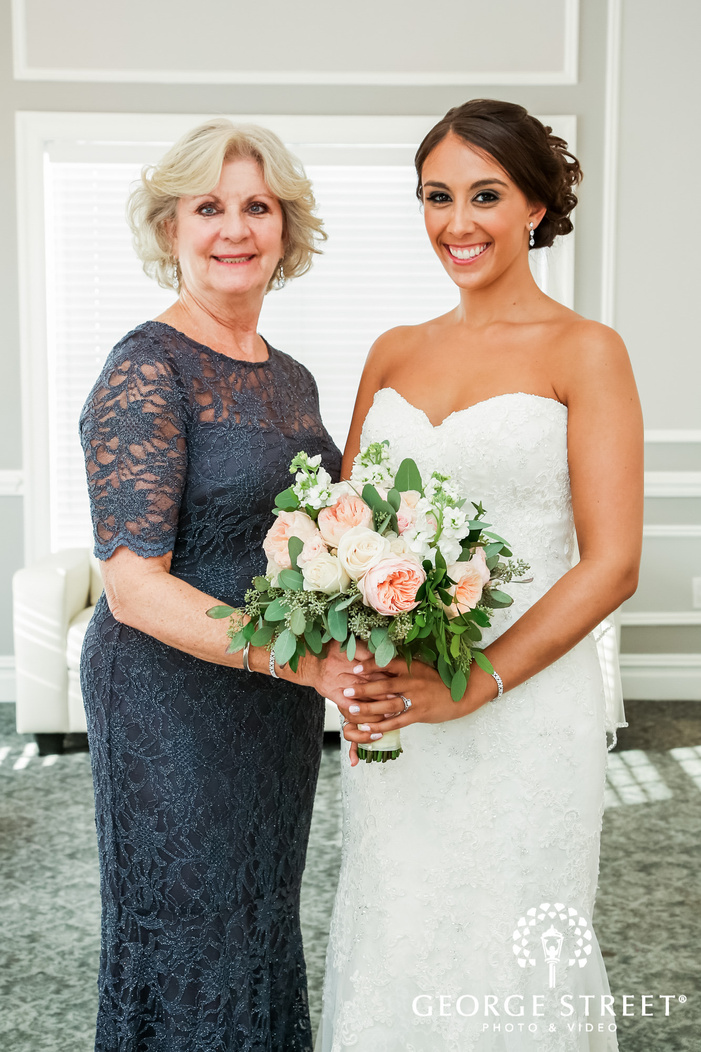 lovely bride and mother wedding photo