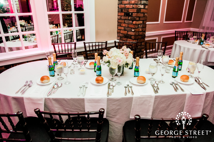 nice reception table at coral house wedding photo