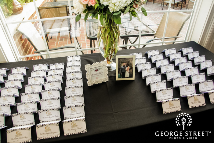 nice reception table cards wedding photo