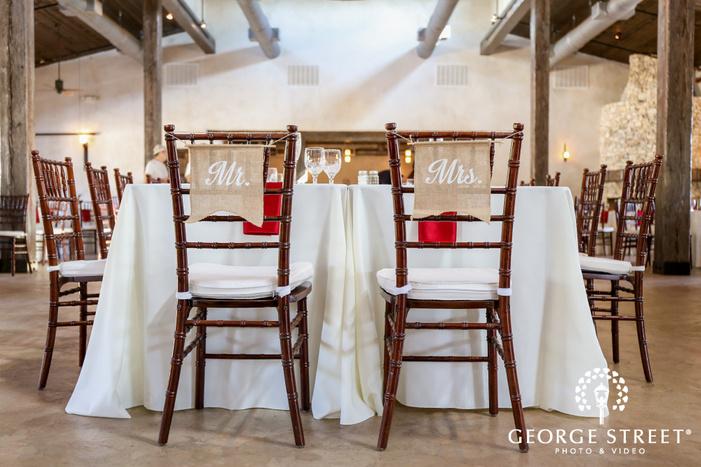 lost mission bride and groom reception table details san antonio wedding photos