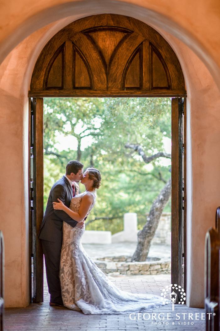 lost mission intimate couple in door san antonio wedding photos