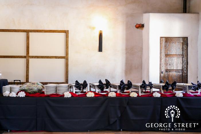 lost mission reception food table setting san antonio wedding photos