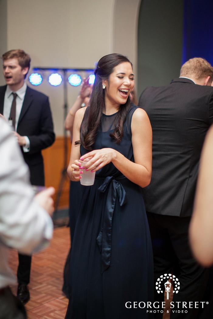 candid bridesmaid at reception