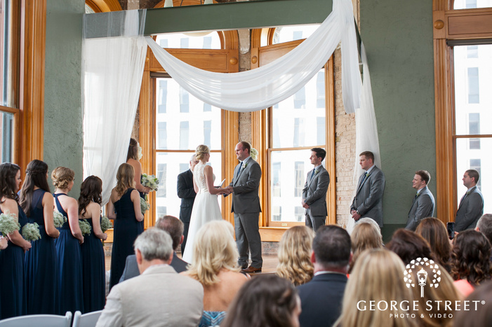 old red museum of dallas wedding ceremony