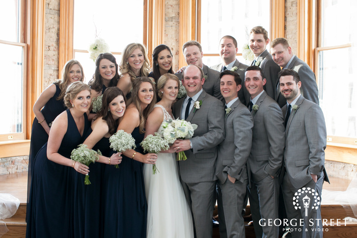 wedding party group portrait