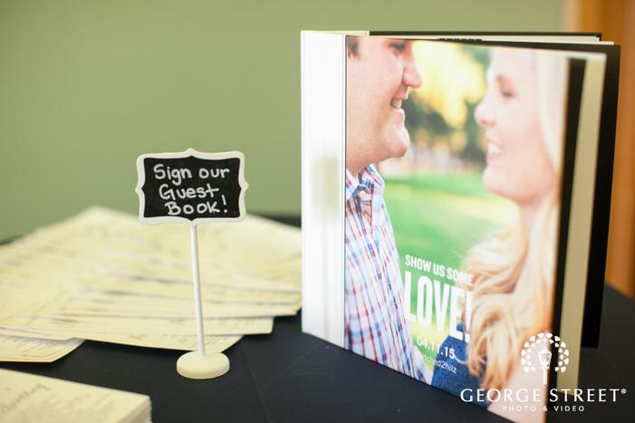 wedding reception guest book