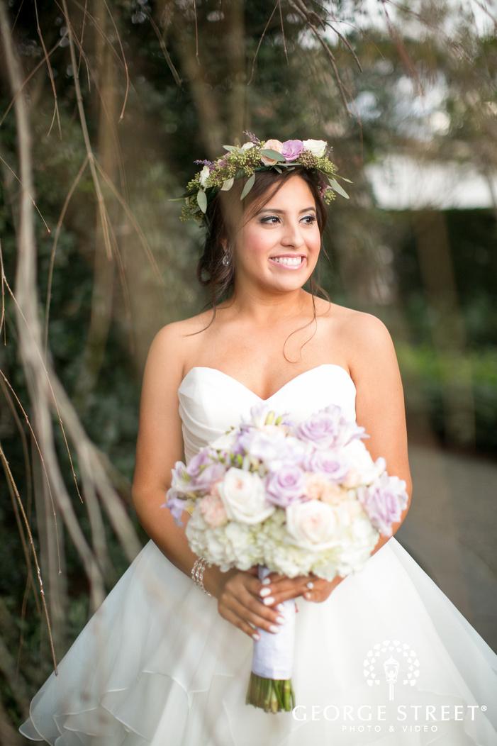 dallas arboretum beautiful outdoor bridal portrait